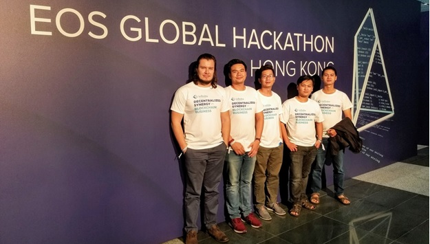 Infinito's Team Impresses at the First EOS Global Hackathon! tom