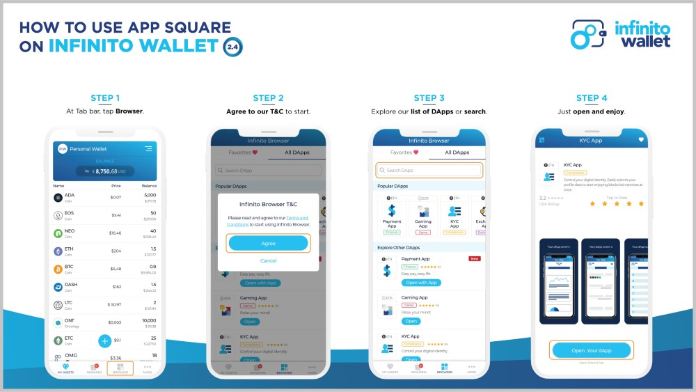 Infinito Wallet's App Square has Arrived!