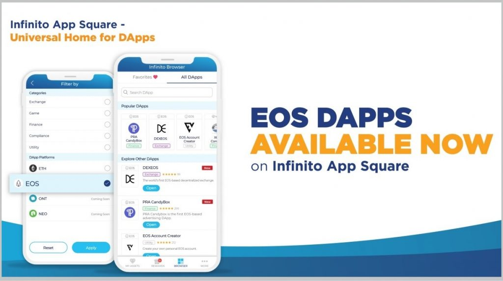 EOS DApps Have Arrived on Infinito Wallet's App Square!