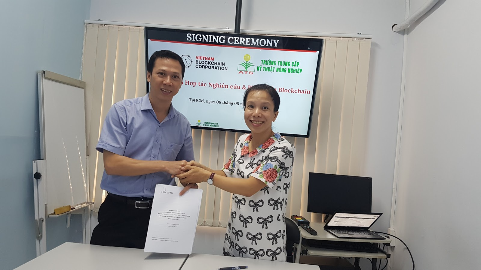 VBC cooperates with HCMC ATS to promote research and development of Blockchain technology