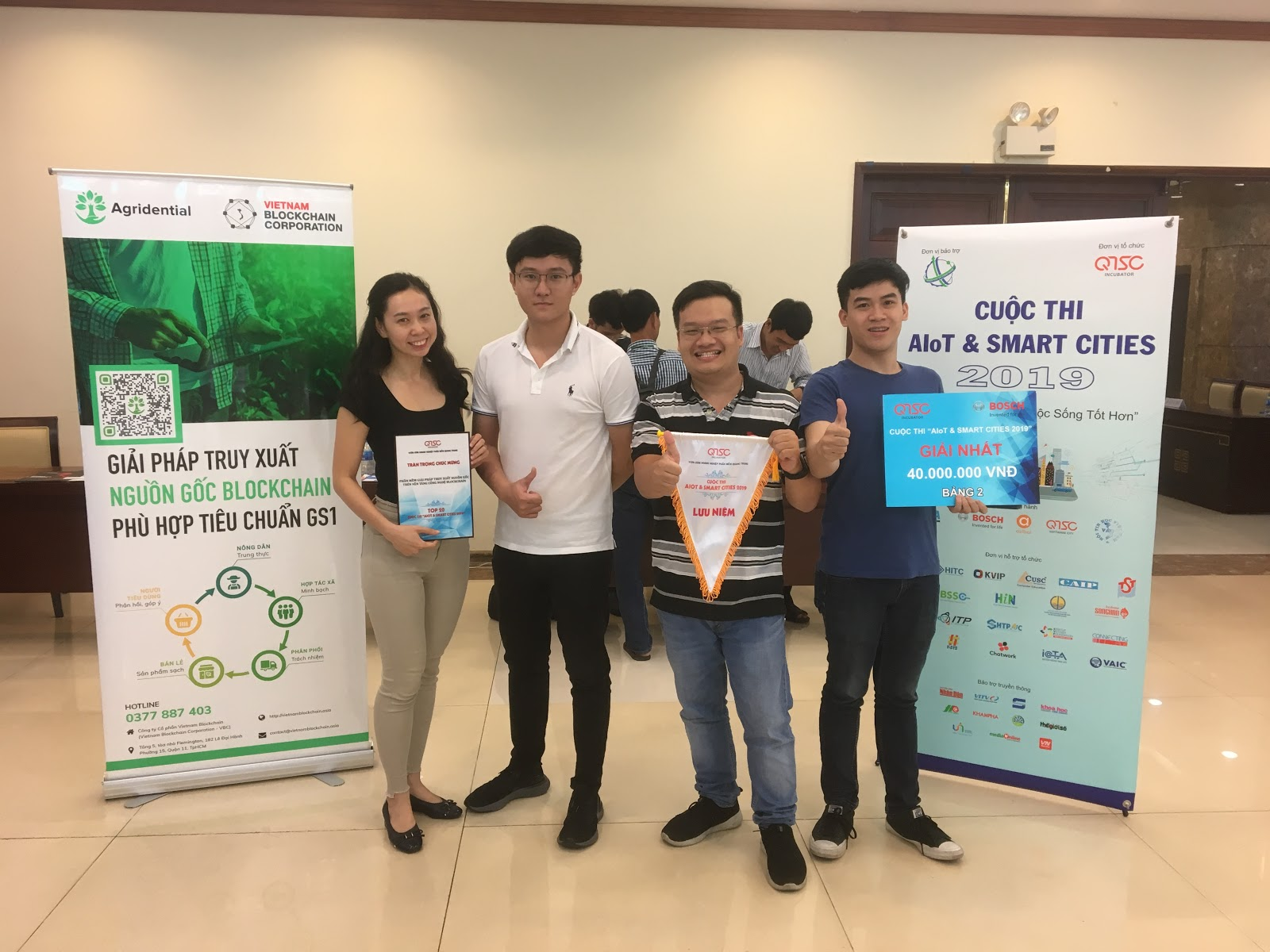 VBC honored with the first prize of High-Tech Agriculture group in AIoT & Smart Cities contest 2019